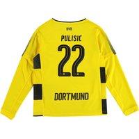 BVB Home Shirt 2017-18 - Kids - Long Sleeve with Pulisic 22 printing