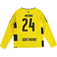 BVB Home Shirt 2017-18 - Kids - Long Sleeve with Merino 24 printing