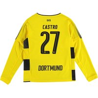 BVB Home Shirt 2017-18 - Kids - Long Sleeve with Castro 27 printing