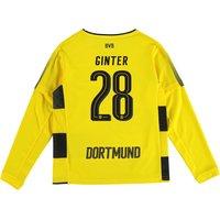 BVB Home Shirt 2017-18 - Kids - Long Sleeve with Ginter 28 printing