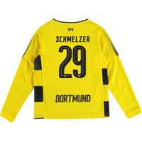 BVB Home Shirt 2017-18 - Kids - Long Sleeve with Schmelzer 29 printing
