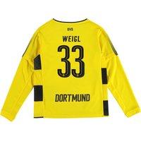 BVB Home Shirt 2017-18 - Kids - Long Sleeve with Weigl 33 printing