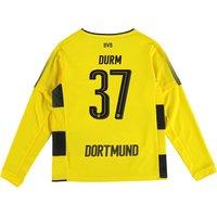 BVB Home Shirt 2017-18 - Kids - Long Sleeve with Durm 37 printing
