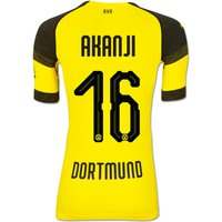 Bvb Authentic Evoknit Home Shirt 2018-19 With Akanji 16 Printing