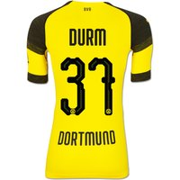 Bvb Authentic Evoknit Home Shirt 2018-19 With Durm 37 Printing