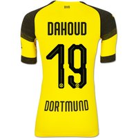 Bvb Authentic Evoknit Home Shirt 2018-19 With Dahoud 19 Printing