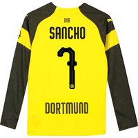 BVB Home Shirt 2018-19 - Kids - Long Sleeve with Sancho 7 printing