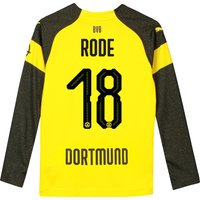 BVB Home Shirt 2018-19 - Kids - Long Sleeve with Rode 18 printing