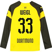 BVB Home Shirt 2018-19 - Kids - Long Sleeve with Weigl 33 printing