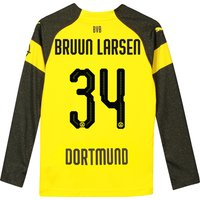 BVB Home Shirt 2018-19 - Kids - Long Sleeve with Bruun Larsen 34 printing