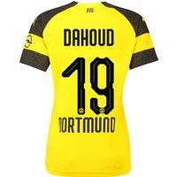 Bvb Home Shirt 2018-19 - Womens With Dahoud 19 Printing