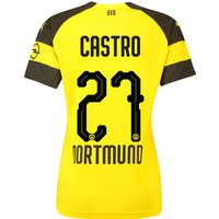 Bvb Home Shirt 2018-19 - Womens With Castro 27 Printing