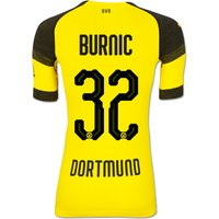 Bvb Authentic Evoknit Home Shirt 2018-19 With Burnic 32 Printing