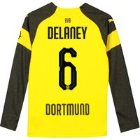 BVB Home Shirt 2018-19 - Kids - Long Sleeve with Delaney 6 printing