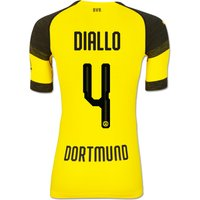 Bvb Authentic Evoknit Home Shirt 2018-19 With Diallo 4 Printing