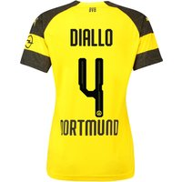 BVB Home Shirt 2018-19 - Womens with Diallo 4 printing