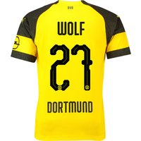 BVB Home Shirt 2018-19 with Wolf 27 printing