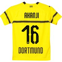 Bvb Cup Home Shirt 2018-19 - Kids With Akanji 16 Printing