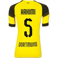 Bvb Authentic Evoknit Home Shirt 2018-19 With Hakimi 5 Printing