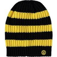 BVB Striped Beanie Hat - Black/Yellow