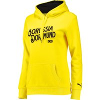 BVB Fan Hoody - Womens Yellow