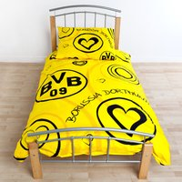 BVB Heart Bedding Set 135 x 200 cm Multi