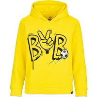 BVB Peace Sign Hoodie- Yellow - Junior