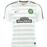 Celtic Squad Short Sleeve Pre Match Top White