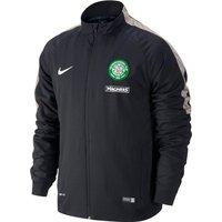 Celtic Squad Sideline Woven Jacket Black
