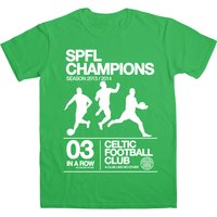 Celtic 2014 Champions T-Shirt - Mens Green