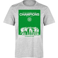 Celtic 2014 Huddle Champions T-Shirt - Mens Grey