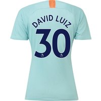 Chelsea Third Stadium Shirt 2018-19 - Womens with David Luiz 30 printing