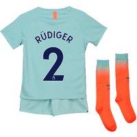 Chelsea Third Stadium Kit 2018-19 - Little Kids with Rüdiger 2 printing