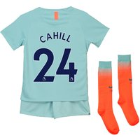 Chelsea Third Stadium Kit 2018-19 - Little Kids with Cahill 24 printing