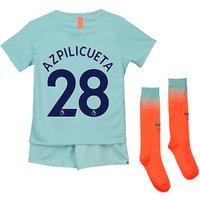 Chelsea Third Stadium Kit 2018-19 - Little Kids with Azpilicueta 28 printing