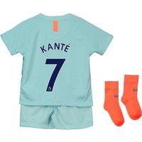 Chelsea Third Stadium Kit 2018-19 - Infants with Kanté 7 printing