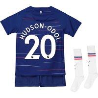 Chelsea Home Stadium Kit 2018-19 - Little Kids with Hudson-Odoi 20 printing