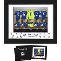 Chelsea Personalised Goal Keeper Dressing Room Photo in Presentation Folder