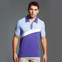 Chelsea Golf Angular Colour Blocked Polo Lt Blue