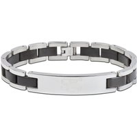 Chelsea Lion Bracelet with Black Inlay - Stainless Steel