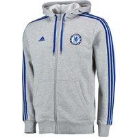 Chelsea Core 3 Stripe Hoodie Grey