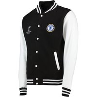 Chelsea UEFA Champions League Varsity Baseball Jacket - Black - Mens