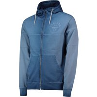 Chelsea Heritage Colour Block Zip Hoodie - Blue - Mens