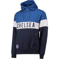 Chelsea Colour Blocked Hoodie - Blue/Navy/White - Mens
