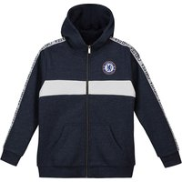 Chelsea Full Zip Taped Sleeve Hoodie - Navy - Older Boys