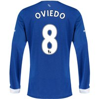 Everton Home Shirt 2015/16 - Long Sleeved with Oviedo 8 printing