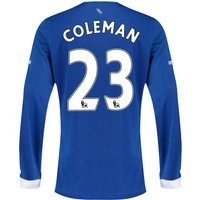 Everton Home Shirt 2015/16 - Long Sleeved with Coleman 23 printing