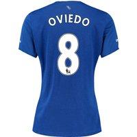 Everton Home Shirt 2015/16 - Womens with Oviedo 8 printing