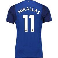 Everton Home Shirt 2017/18 - Junior with Mirallas 11 printing