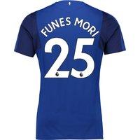 Everton Home Shirt 2017/18 - Junior with Funes Mori 25 printing